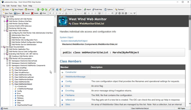 west wind html help builder help builder preview window in app preview mode