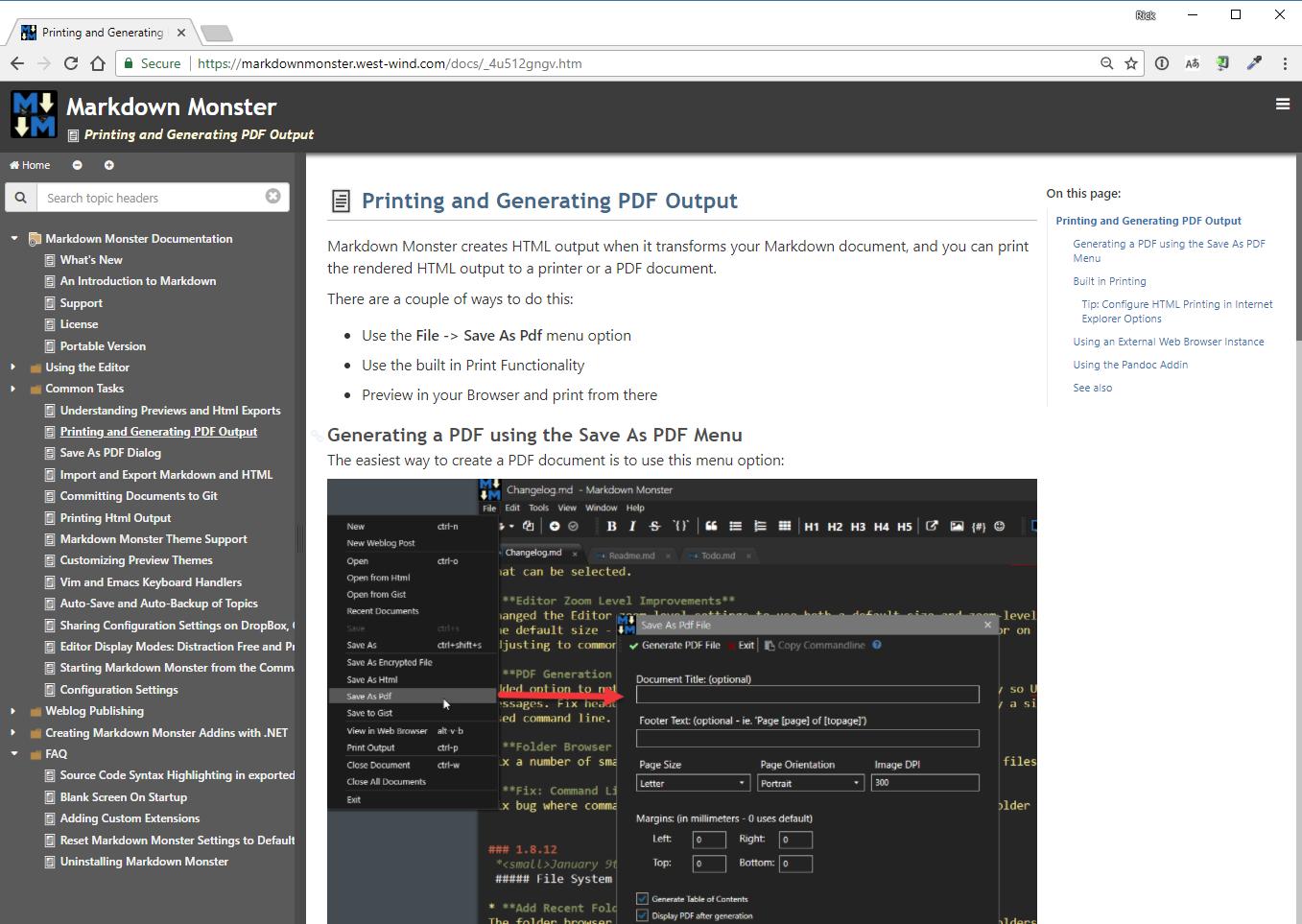 west wind html help builder final html web output